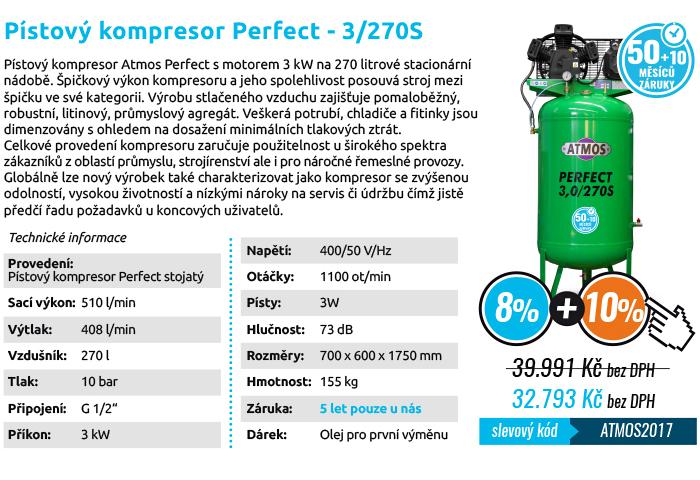 Pístový kompresor ATMOS 3/270S