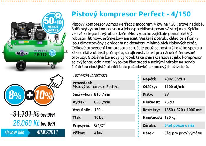 Pístový kompresor ATMOS 4/150